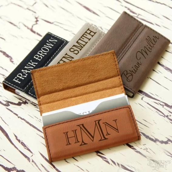 These personalized card holders come in four colors and a multitude of fonts, making them perfect law school graduation gifts!