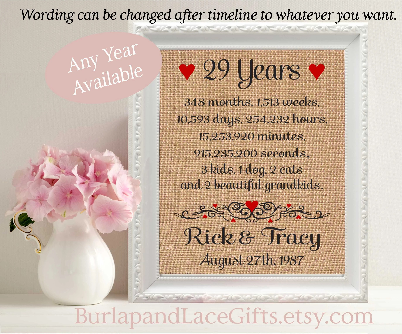 29 29th Anniversary 29 Years Together 29th Wedding Anniversary