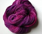 Hand dyed yarn, semi soli...