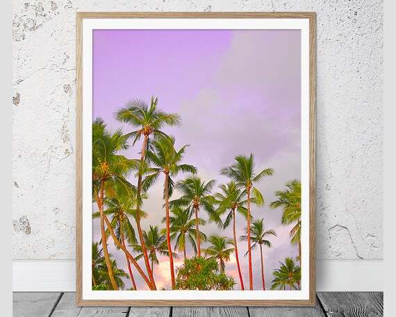 Palm Trees Print Tropical Print Wall Art Palm Print Wall