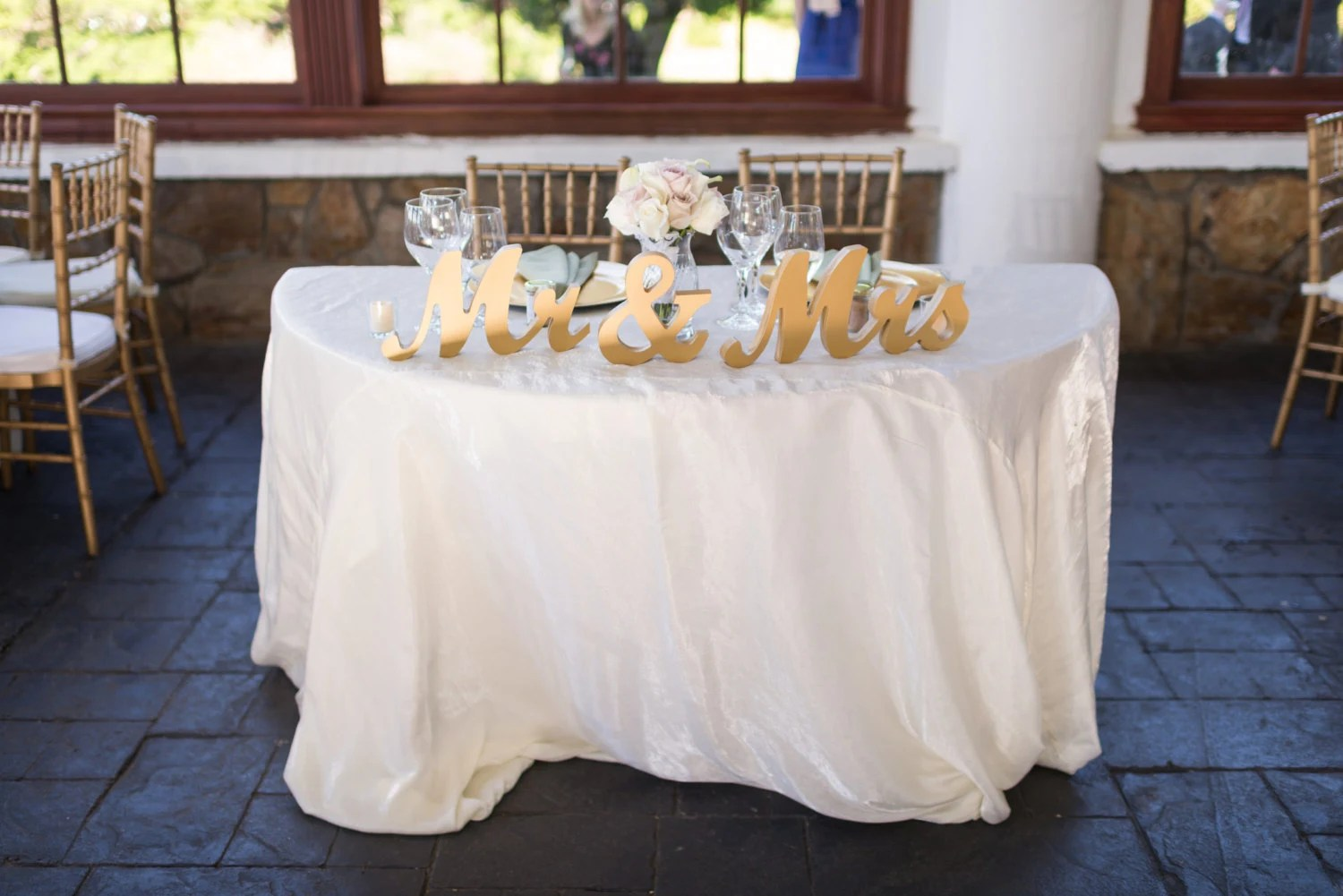 Vintage Gold Mr And Mrs Sign Wedding Sweetheart Table Decor Mr