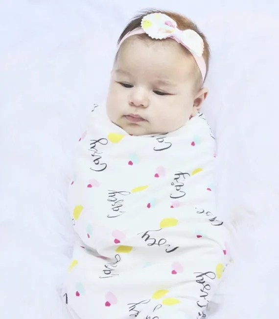 Personalized Swaddle Blanket Personalized hat Baby Swaddle