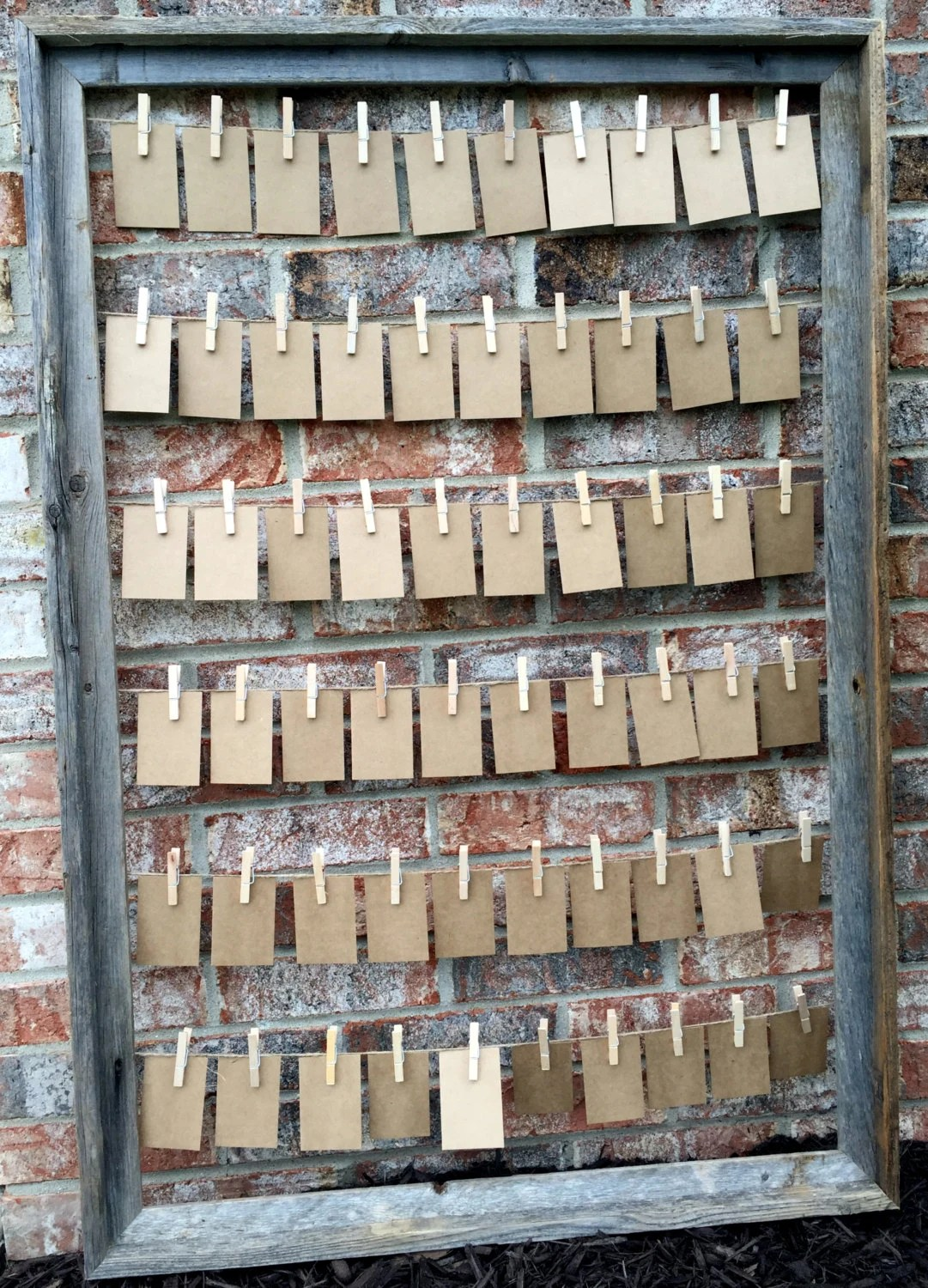 Multiple Picture Frame Barn Wood Rustic Wedding Place Card