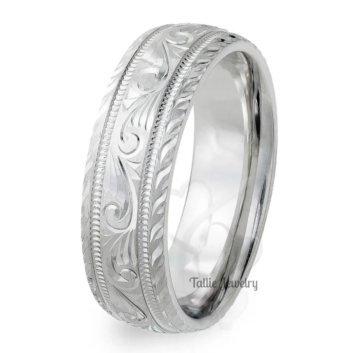 Womens Engraved Wedding Bands Full Size Of Wedding