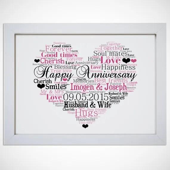Personalised heart print