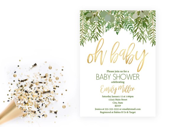 Baby shower invitations.