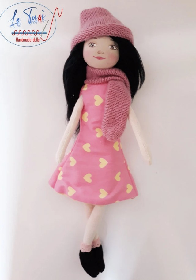 Handmade cloth doll, clot...