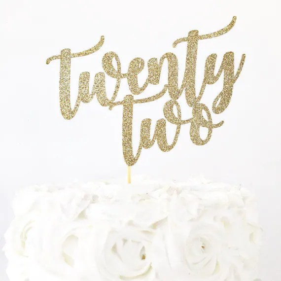 Twenty Two Cake Topper 22 Years Old 22nd Birthday