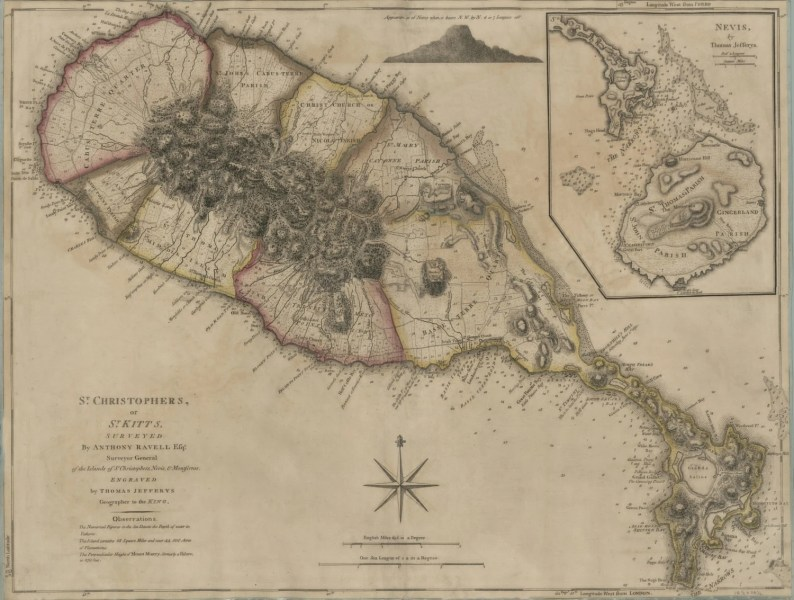 St  Kitts Historical Map 1775