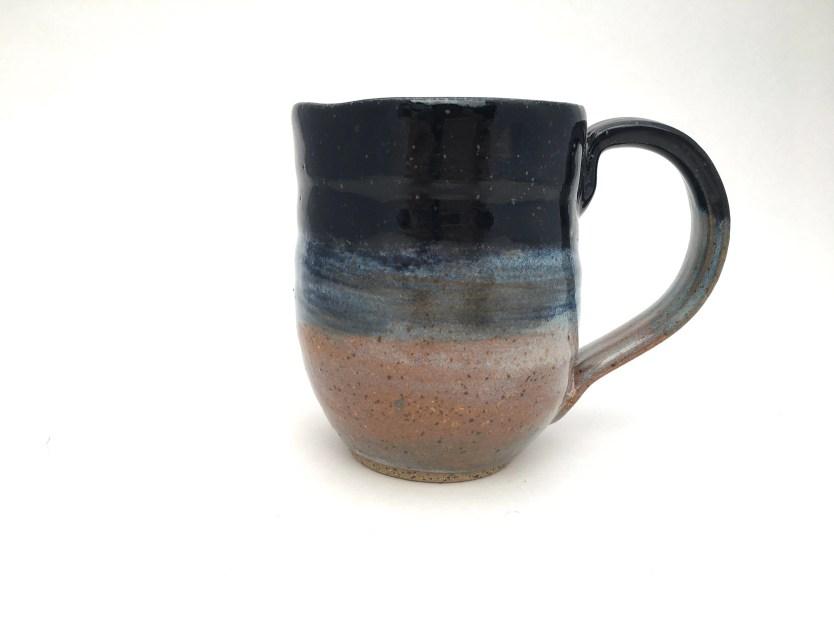 Mug - Striped Blue & Brow...