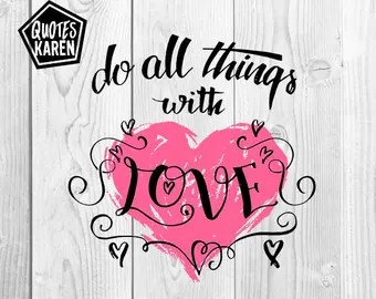 Download All things with love | Etsy
