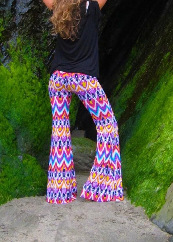 RAINBOW IKAT BELL bottom striped wide leg fashion gypsy hippie