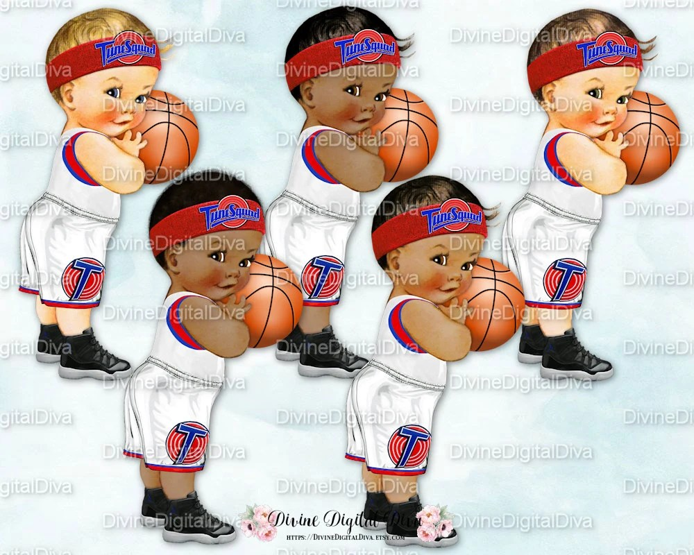 Little Prince Vintage Baby Boy Basketball Tune Squad 3
