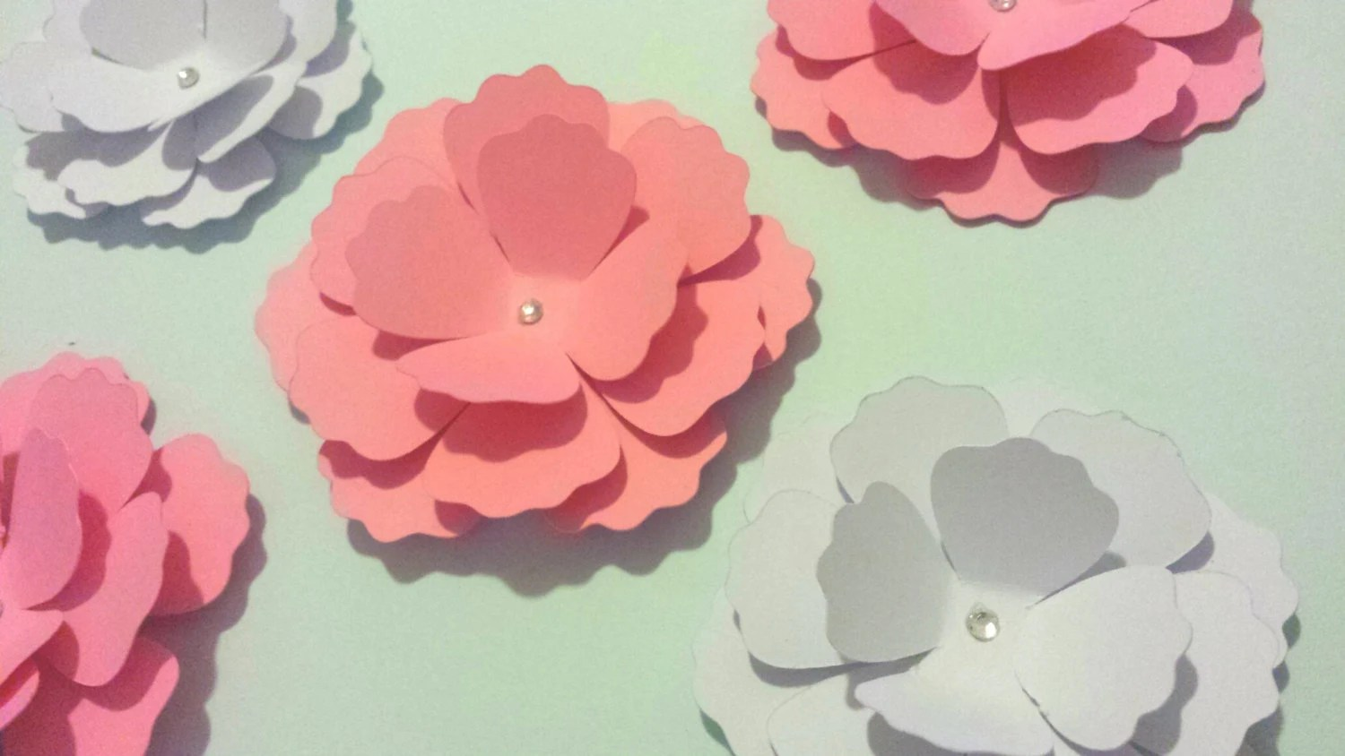3d Paper Flower Nursery Flower Decor Wall Flower Decor