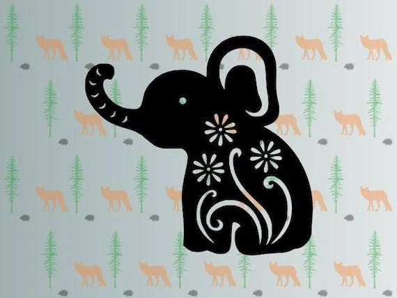 Download cute elephant svg flower elephant svg files for cricut
