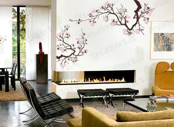 Cherry Blossom Wall Decal Tree Branch Stickers Japanese Large