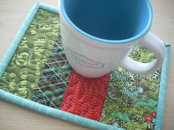 juniper berry mug rug - FREE SHIPPING
