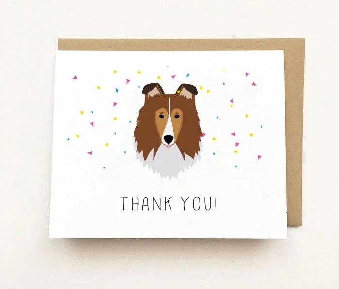Dog Birthday Card Cute Birthday Card Dog Greeting Card Dog