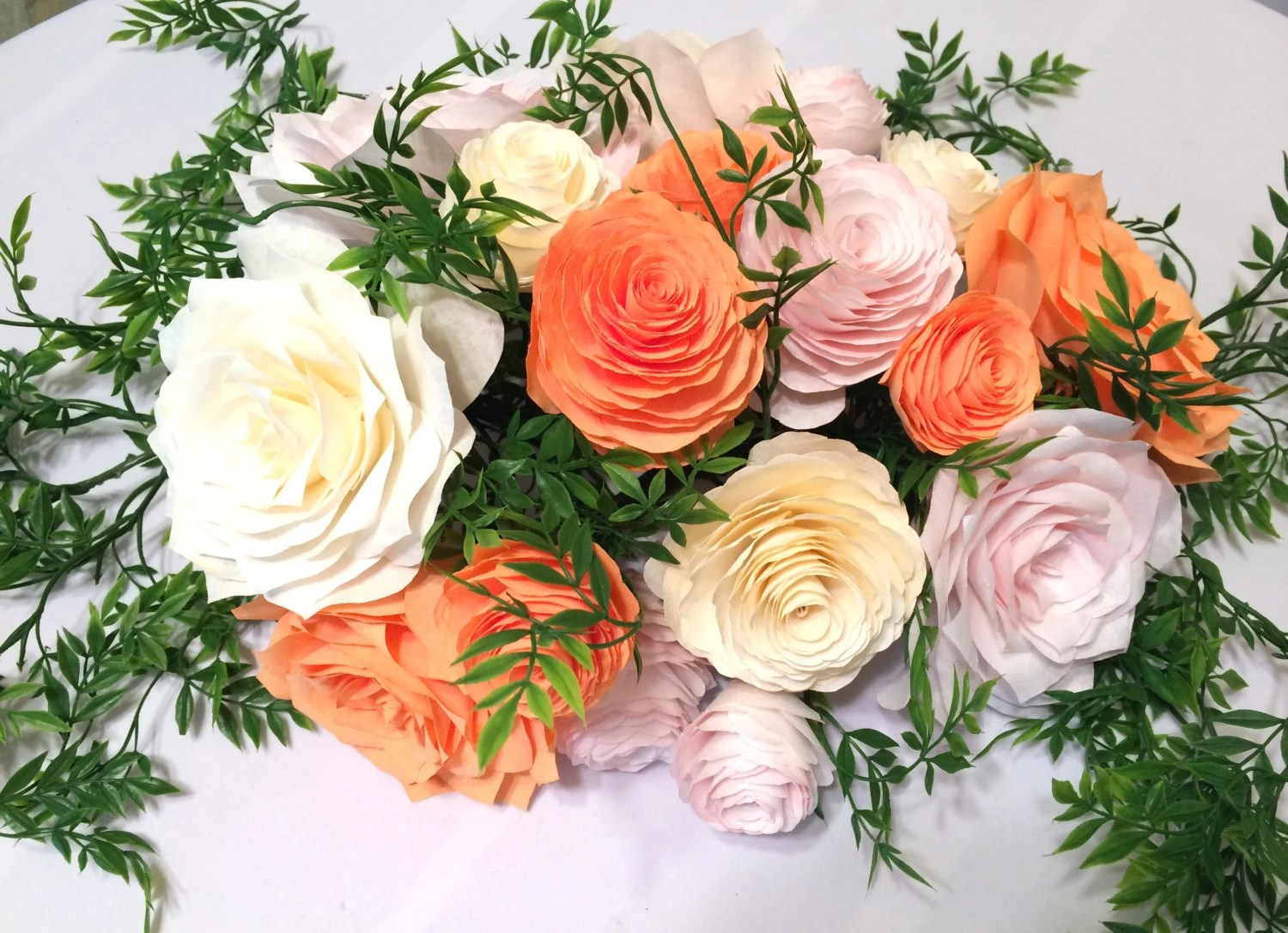 Items Similar To Floral Garland In Blush, Ivory And Peach