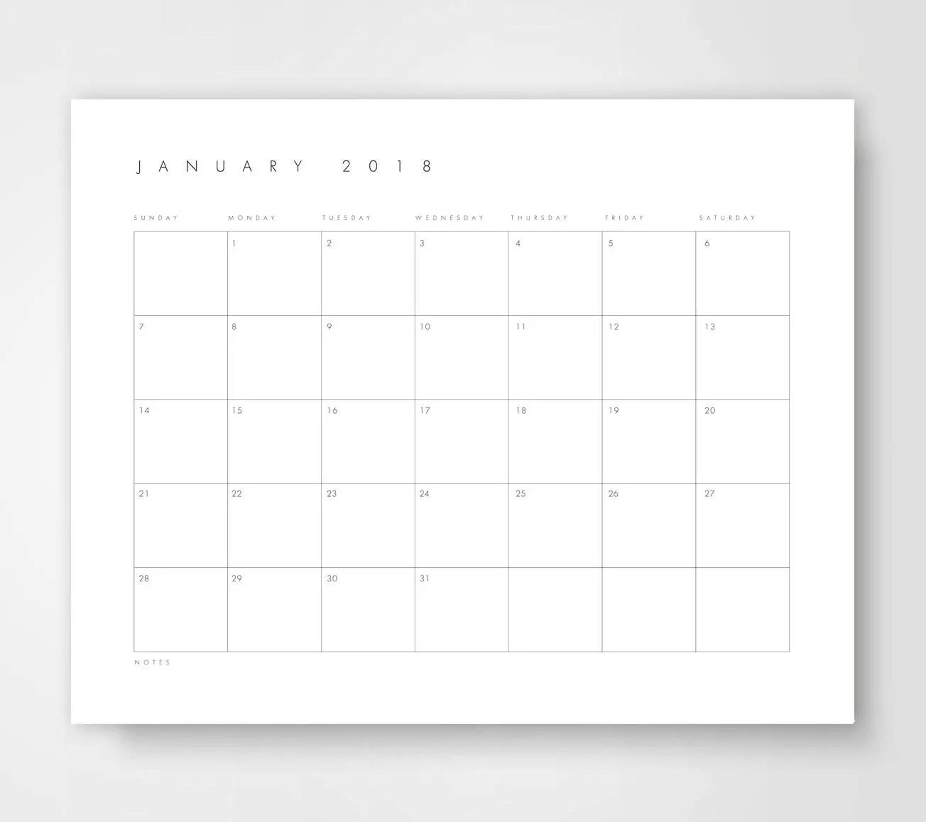Printable Desk Calendar Monthly Desk Calendar