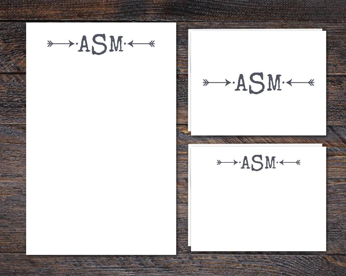 Arrow Monogram Stationery...
