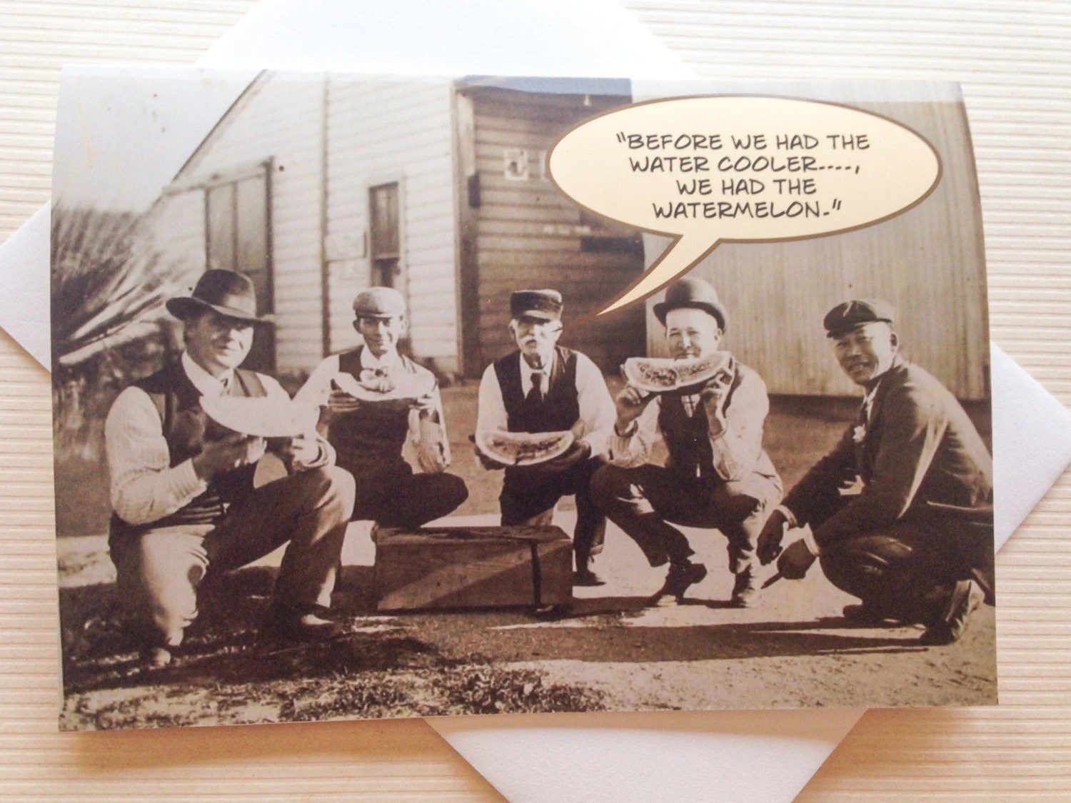 Vintage Funny Photo Card Old Photo Greeting Card Funny