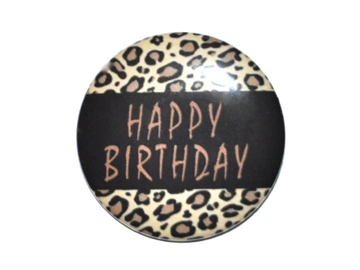Happy Birthday with leopard print animal print jungle theme 2