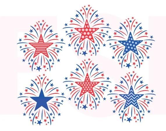 Download Fireworks svg 4th of July svg Memorial Day svg Patriotic