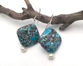 Dyed Blue Magnesite & Rea...