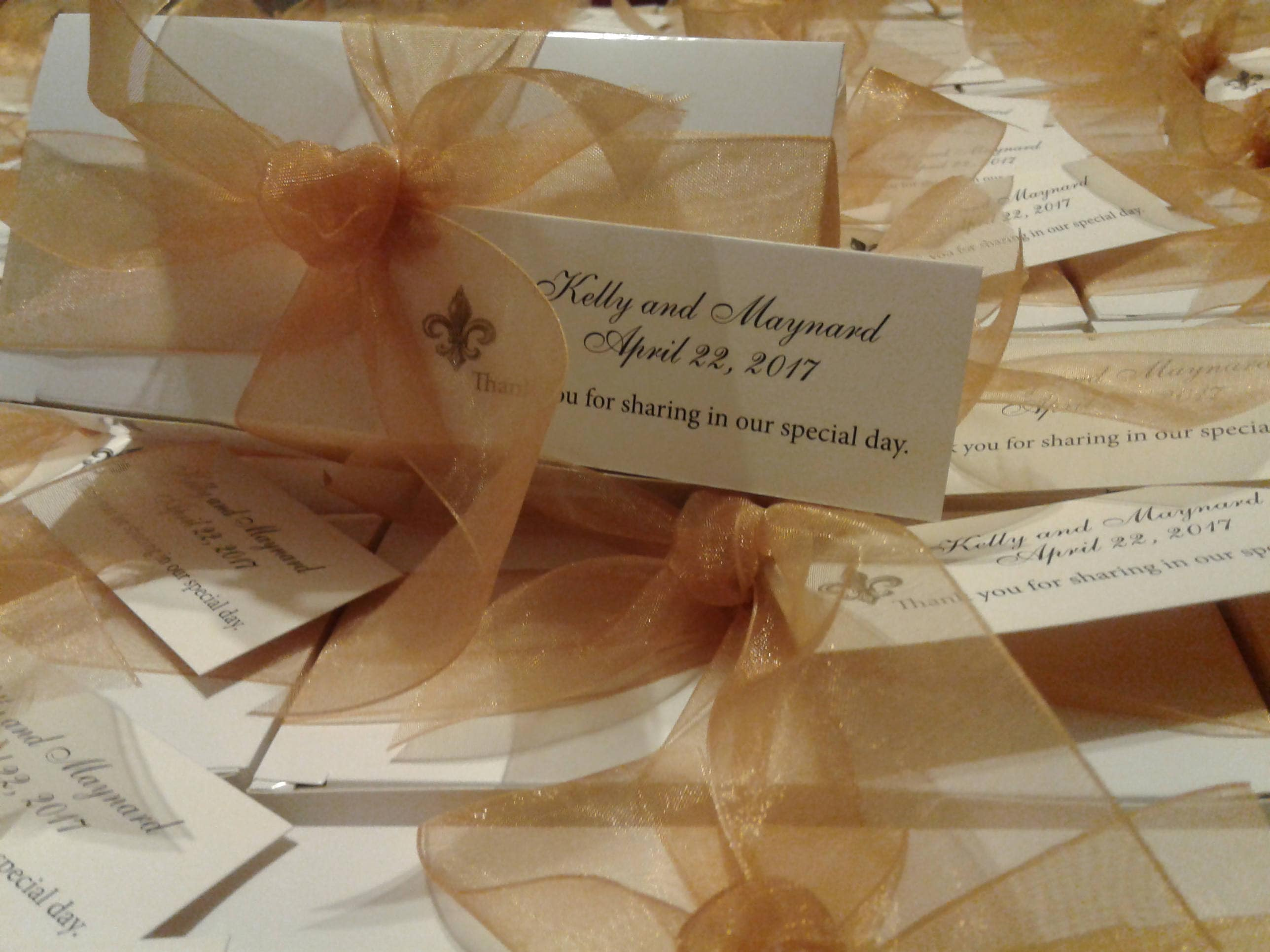 Elegant Wedding Favors For That Very Special Day. Taste Of