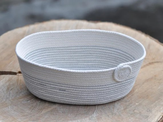 White Decorative Rope Bowl