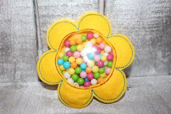 3 designs - 4x4 and 5x7 hoop FAVOR BAG - Flower - Machine Embroidery Design File, digital download