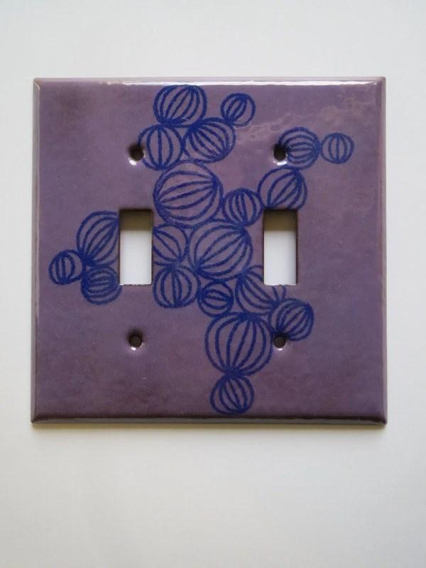 Enamel double switch plat...
