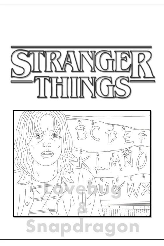 Stranger Things Coloring Book Instant Printable Digital