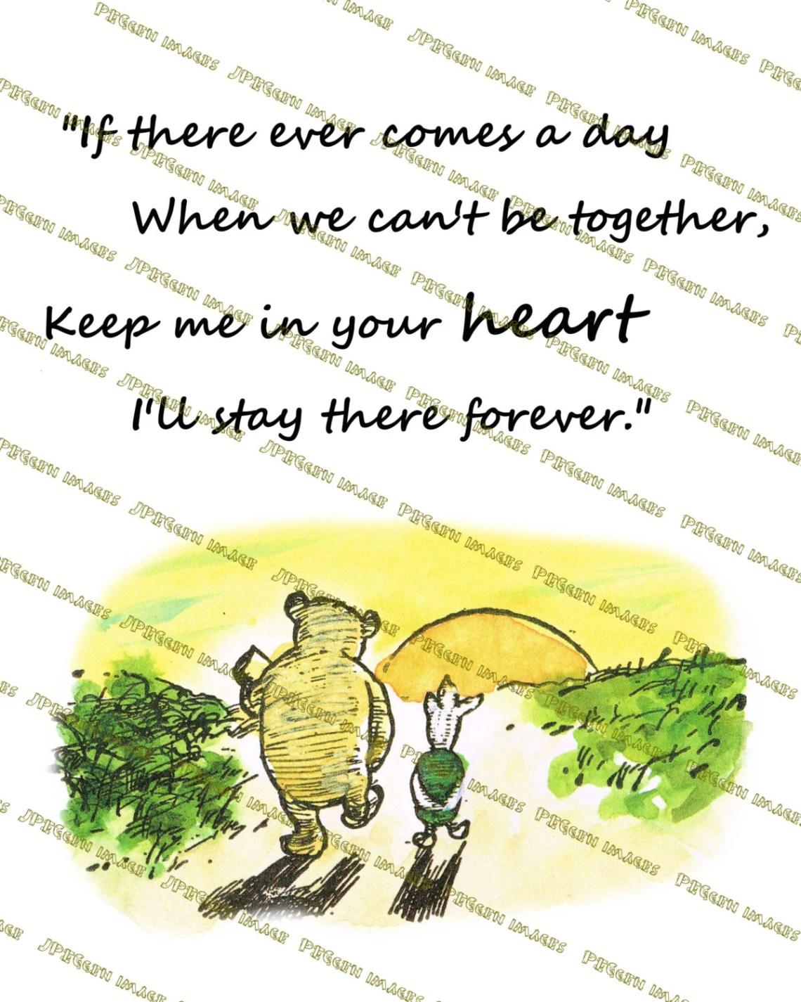 Winnie The Pooh Drucke Zitate Wenn Es Kommt Immer Einen Tag