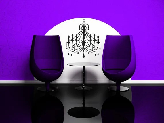 Chandelier Wall Decal by VinylWallAccents