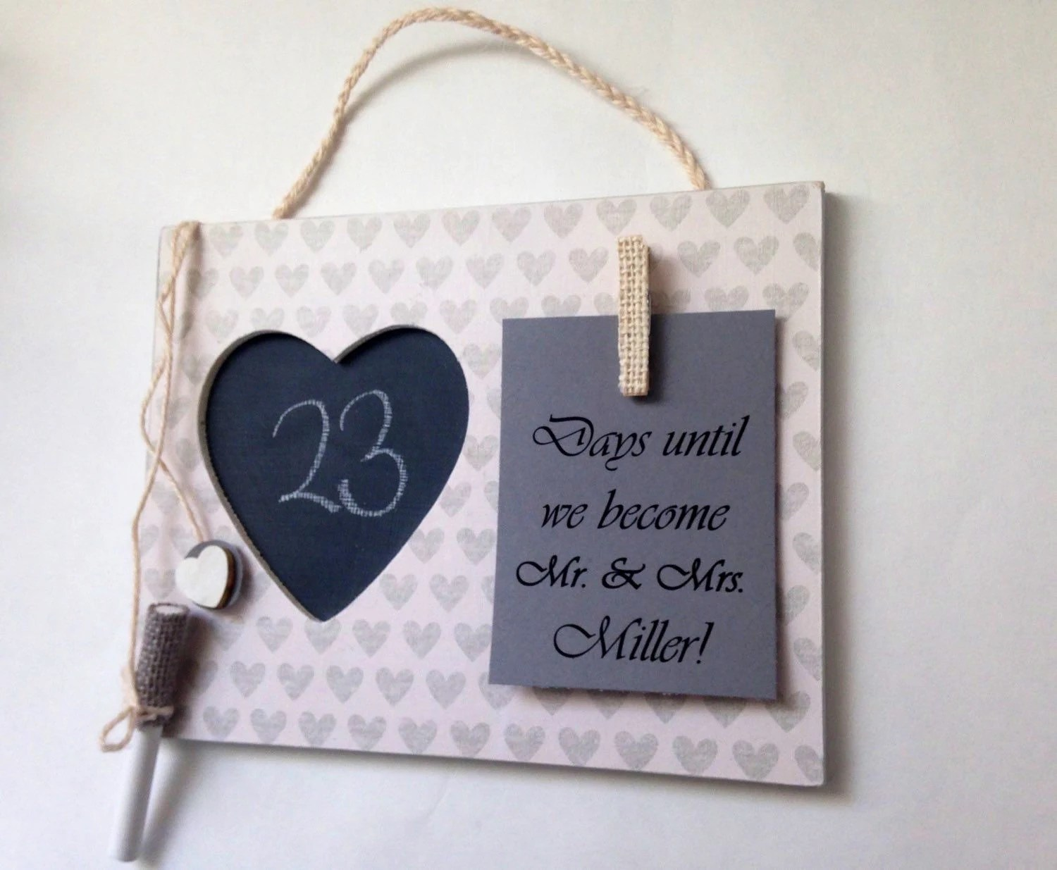Engagement Party Gift Wedding Countdown