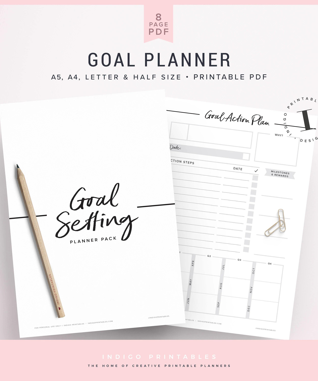 Goal Planner Goal Worksheet Planner Kit Goal Planning Kit