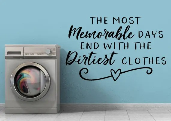 Laundry Wall Decal Quote by EpiphanyDecals