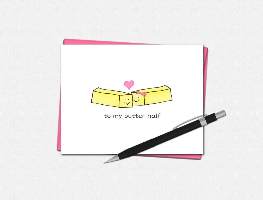 To My Butter Half Valentine's Day Card