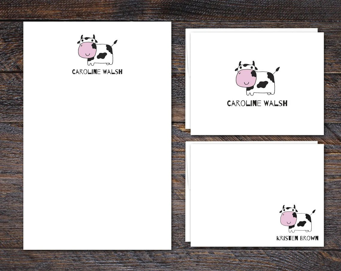 Cow Stationery Set - Pers...