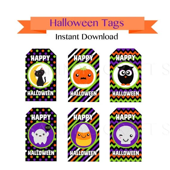 free halloween tags download