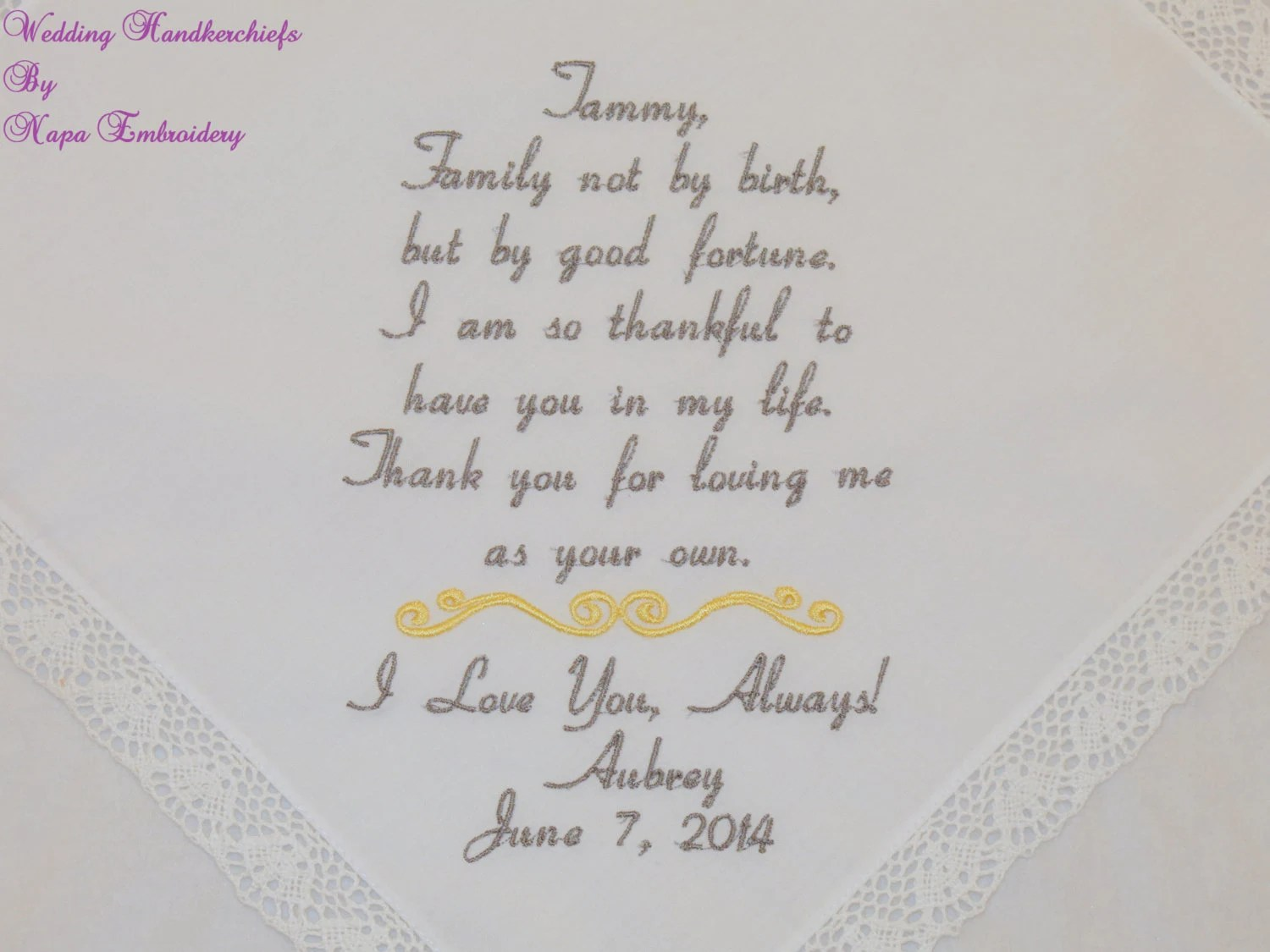 Step Mom Wedding Gift Step Mother Of The Bride Gift