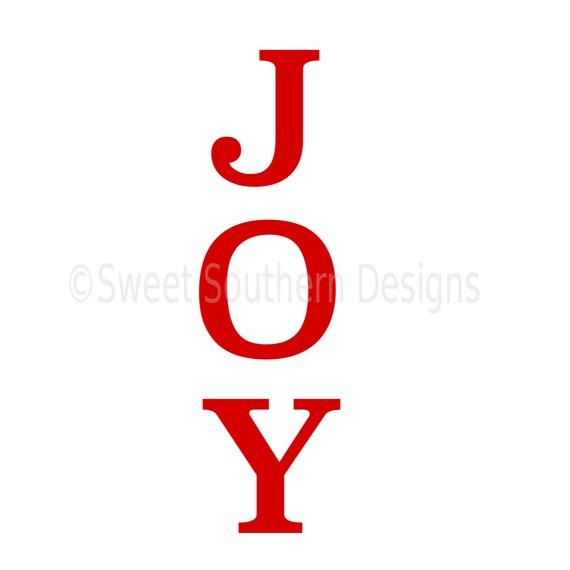 Download JOY christmas holiday vertical SVG instant download design for