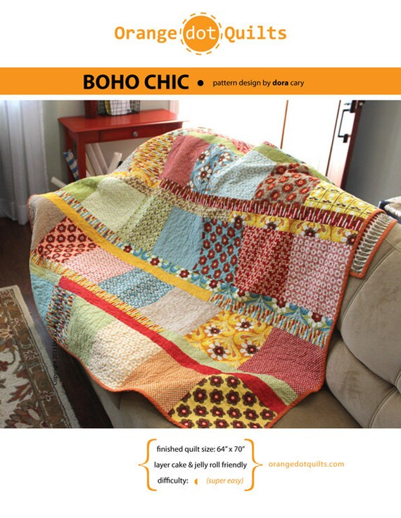 Modern Quilt Pattern Boho Chic Easy Amp Fun