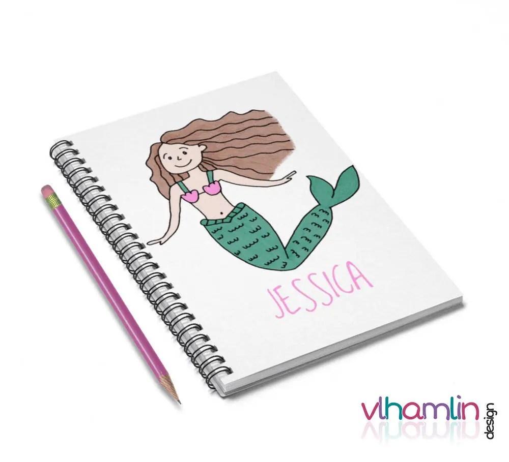 Brunette Mermaid Notebook...