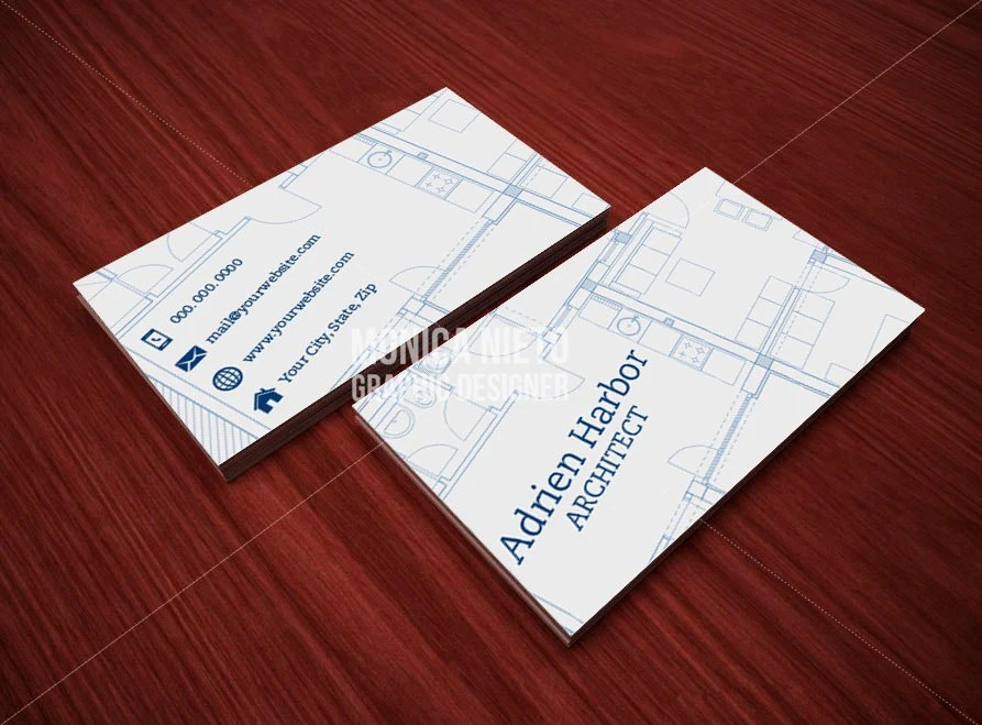 Printable Architect Business Card Template Interior Designer