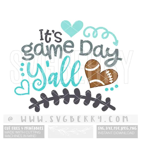 Download Its Game Day Y'all SVG / Live Love Football SVG / Football