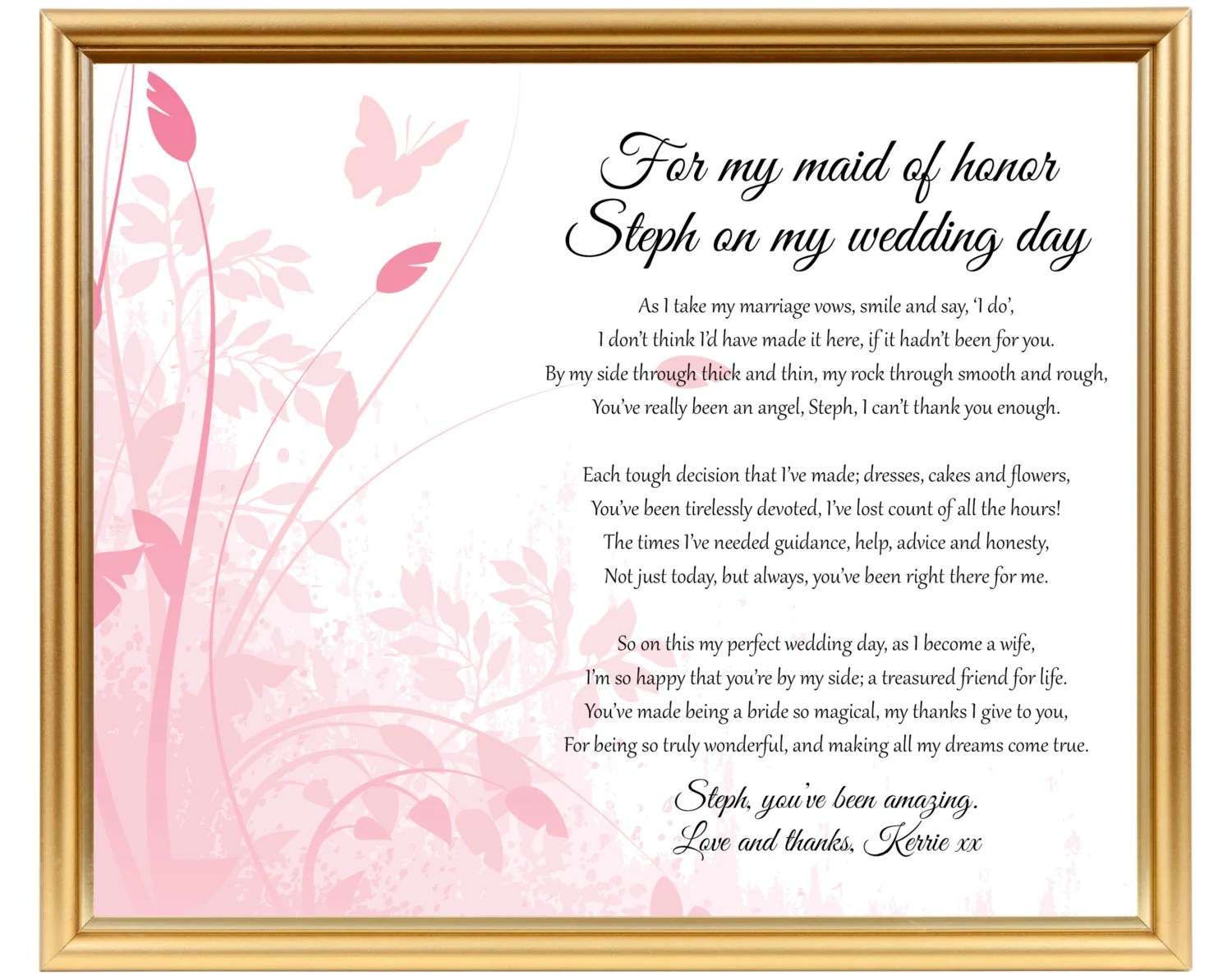 Gift For Maid Of Honor Gift To Chief Bridesmaid
