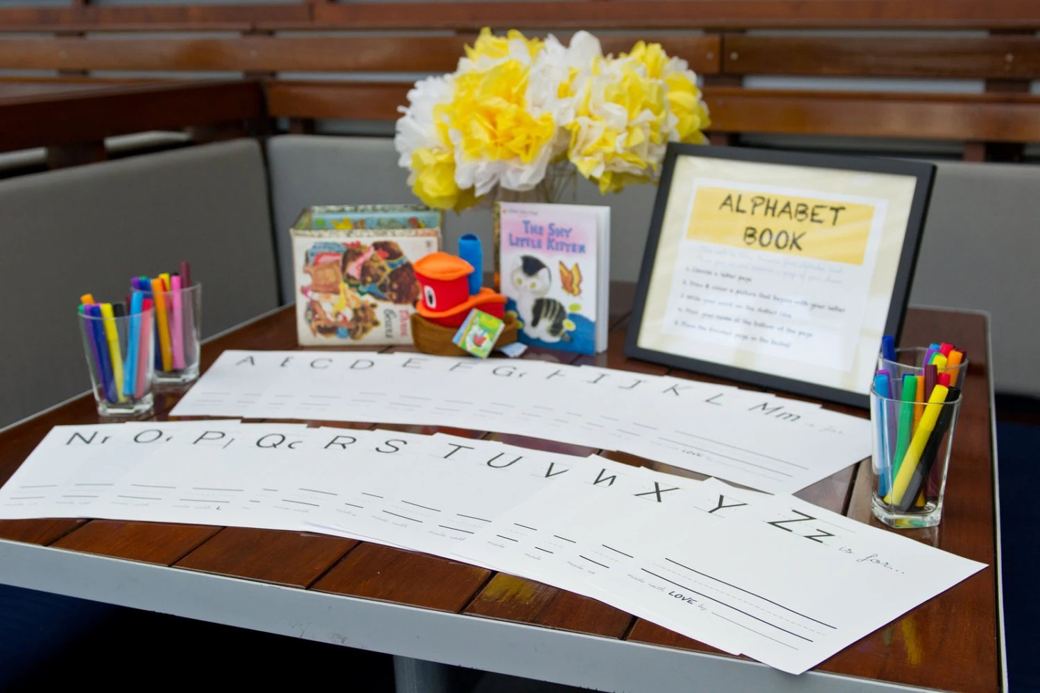 Baby S First Alphabet Book A Baby Shower Game T